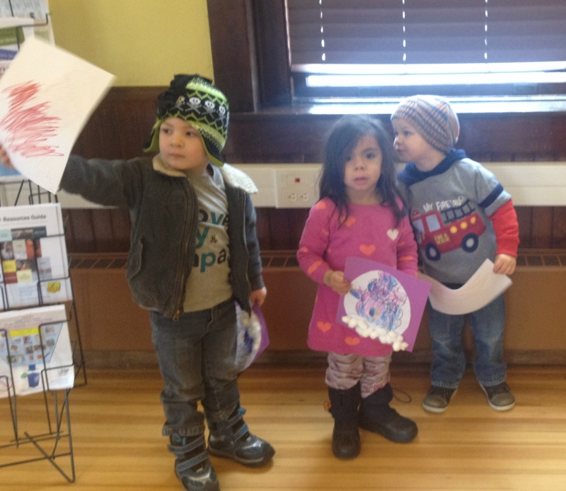 Projects from Story Time at Delaware Free